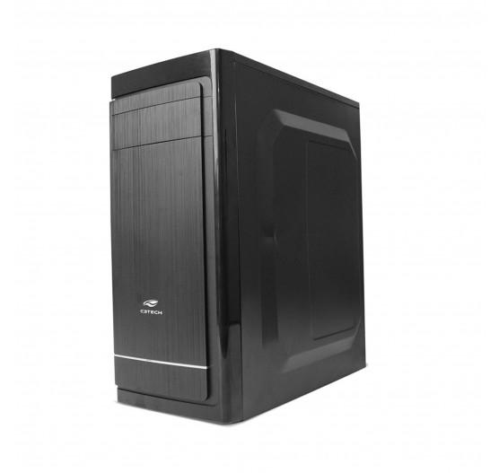Gabinete C3 Tech MT-41BK 4B ATX/Micro c/ Fonte 200W - PRETO