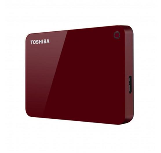 HD Externo Toshiba 1TB Canvio Advance Vermelho HDTC910XR3AA