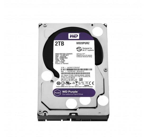 HD Interno Western Digital 2TB Purple A/V SATA - WD20PURZ
