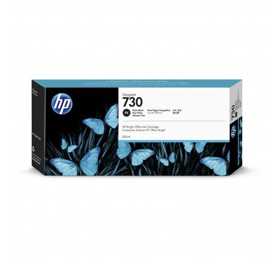Cartucho de tinta HP 730 Preto Foto PLUK 300 ml - P2V73A