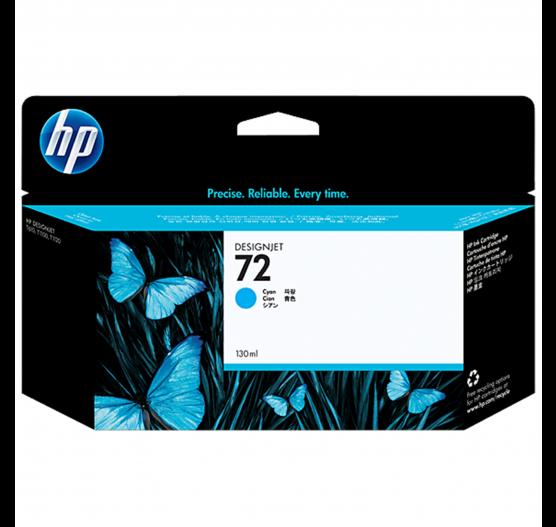 Cartucho de tinta HP 72 Ciano PLUK 130ml - C9371AB