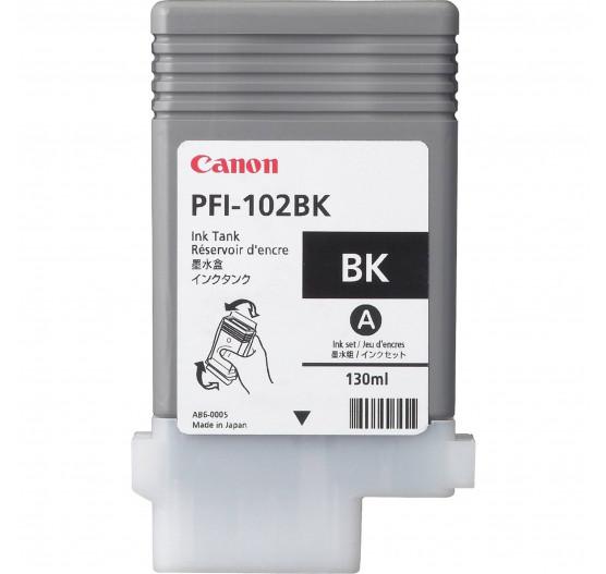Cartucho de Tinta Canon PFI-102 BK-130ml (5pçs) - 0895B003AA