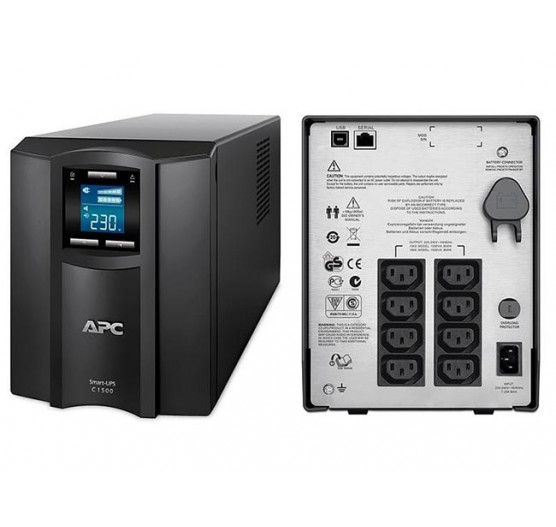 Nobreak APC SMC1500I-BR 1500VA 900W SMART-UPS C (entrada 230V/ Saida 230V) Display LCD, USB, Serial, com 6 Tomadas