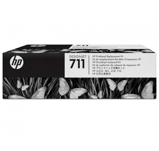 CABECA DE IMPRESSAO HP PLOTTER T520 E T120 C1Q10A 711 KIT UNICO