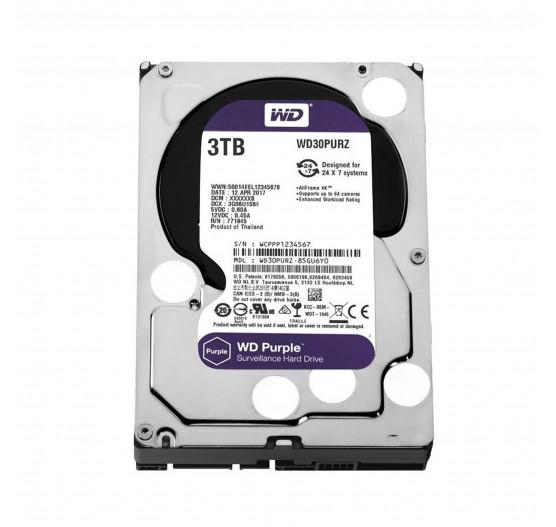 HD Interno Western Digital 3TB Purple A/V SATA - WD30PURZ