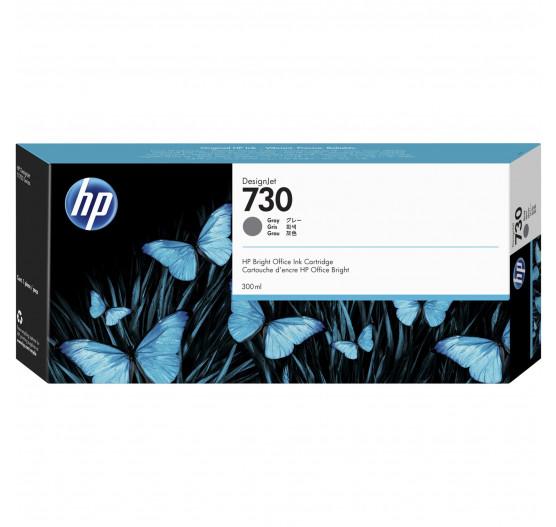 Cartucho de tinta HP 730 Cinza PLUK 300 ml - P2V72A
