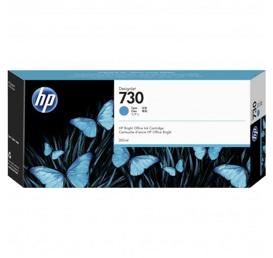 Cartucho de tinta HP 730 Ciano PLUK 300 ml - P2V68A