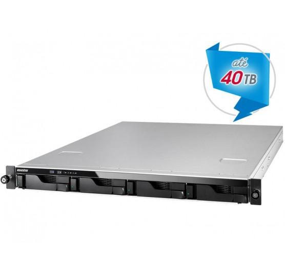 NAS 4 Baias  AS6204RS NAS Asustor Quad Core J3160 1,6GHZ 4GB DDR3 RACK 1U Backup e Vigilância sem Disco