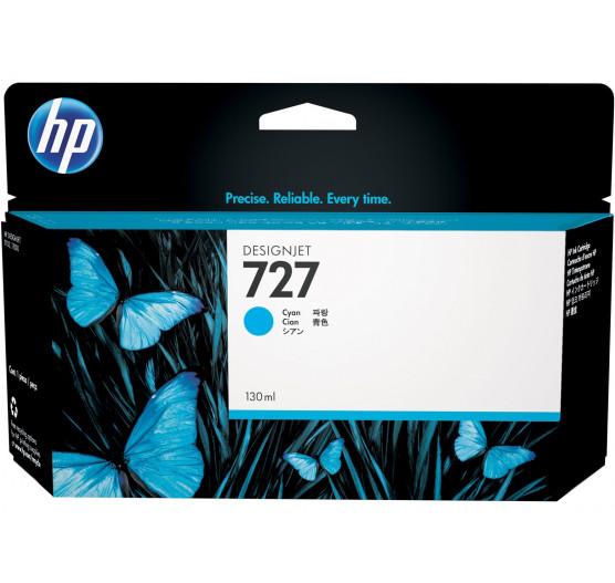 Cartucho de tinta HP 727 Ciano PLUK 130ml - B3P19A