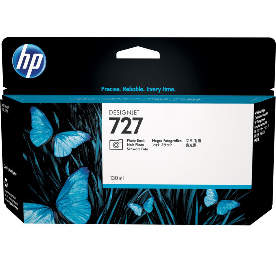 Cartucho de tinta HP 727 Preto Photo PLUK 130ml - B3P23A