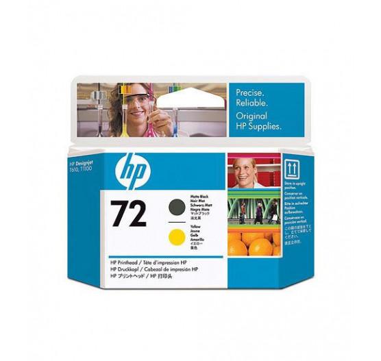 Cabeça de Impressão HP 72 Preto Mate e Amarelo PLUK - C9384A