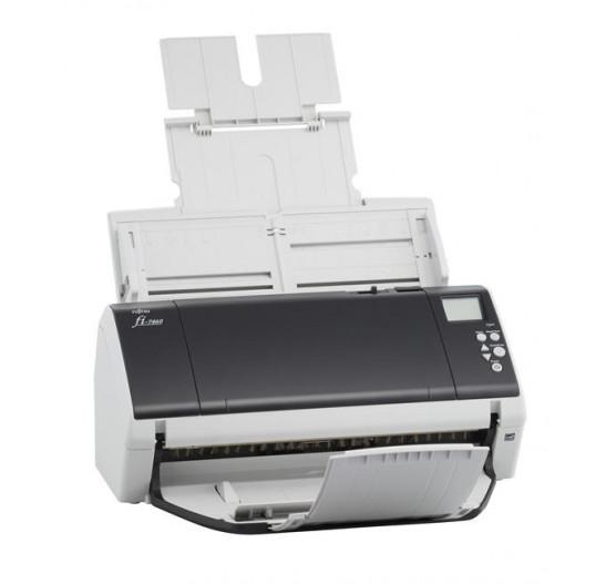 Scanner de Mesa Fujitsu FI-7480, 80 PPM/ 160 IPM, 600DPI, A3, Bivolt USB
