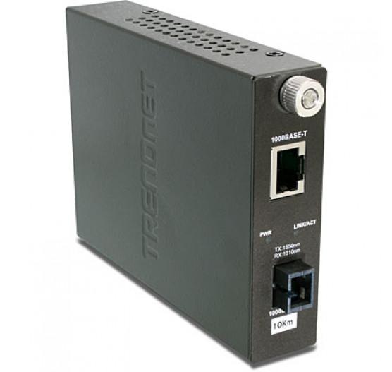 Conversor TFC-1000S10D3,  Inteligent 1000BASE-TX TO 1000BASE-FX Dual Trendnet