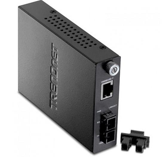 Conversor TFC-1000S50, 1000BASET (RJ45) para Fibra Otica 1000BASELX Trendnet