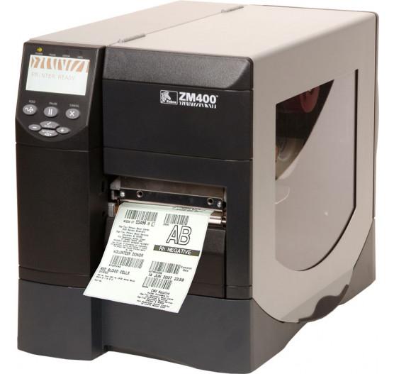Impressora Termica Zebra ZM400REP 203 Rebobinador e Peel OFF
