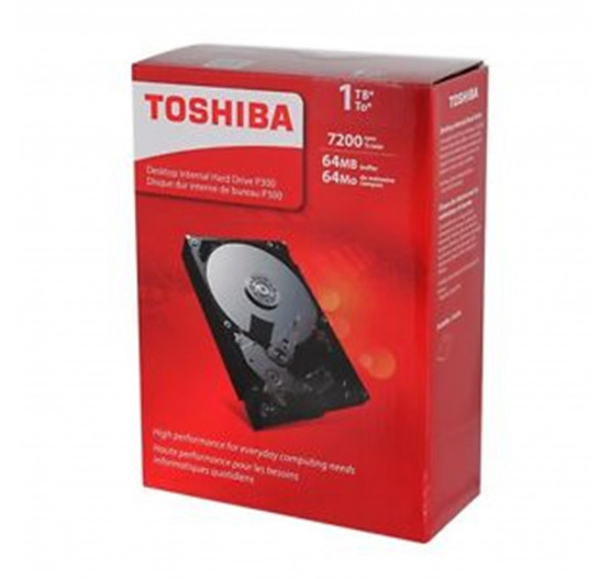 "HD Interno Toshiba 1TB 7200RPM 3,5"" p/desk BOX HDWD110XZSTA"