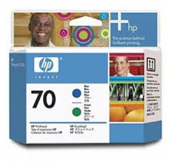 Cabeça de impressão HP 70 Azul e verde PLUK - C9408A