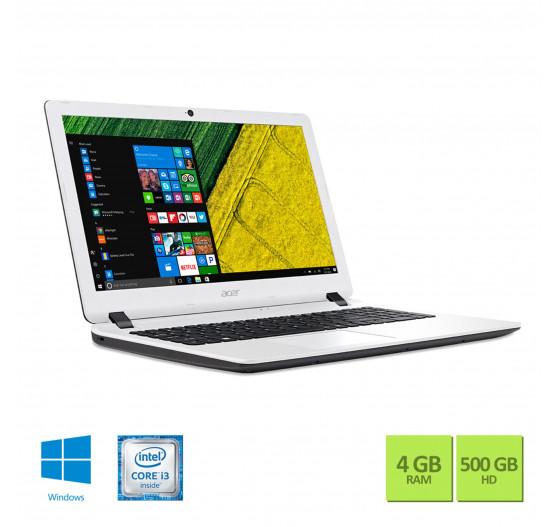 """Notebook Acer 15,6"""" ES1-572-347R i3 4GB 500GB W10 Branco"""
