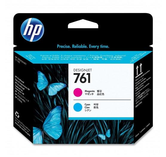 Cabeça de impressão HP 761 Magenta/Ciano PLUK - CH646A