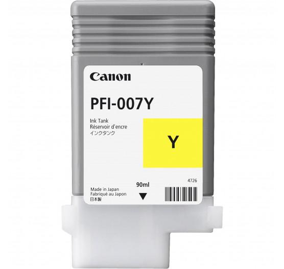 Cartucho de Tinta Canon PFI-007 Y - 90ml - 2146C001AA