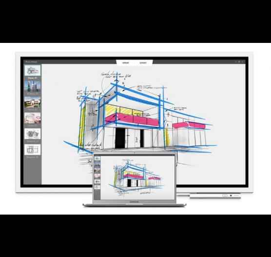 Monitor Flip 55 Touch UHD WM55R Flip Chart Interativo + Pedestal Samsung