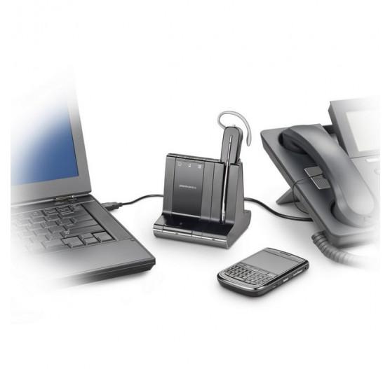 Poly Savi W740 Fone de Ouvido Sistema RJ9, USB, BT 84001-06